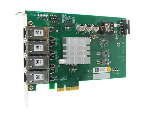 Quad GigE POE PCIe x4 NIC card - Neousys NEO-PCIE-POE354AT