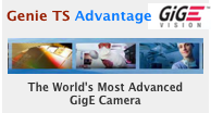 Learn more...Genie TS combines an advanced CMOS Sensor with a newly optimized camera platform to deliver a powerful, versatile feature set in a GigE Vision camera