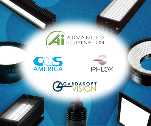 lighting products, and controllers for imaging applications from Advaanced Illumination, Gardasoft, and CCS America