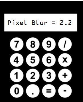 pixel blur calc