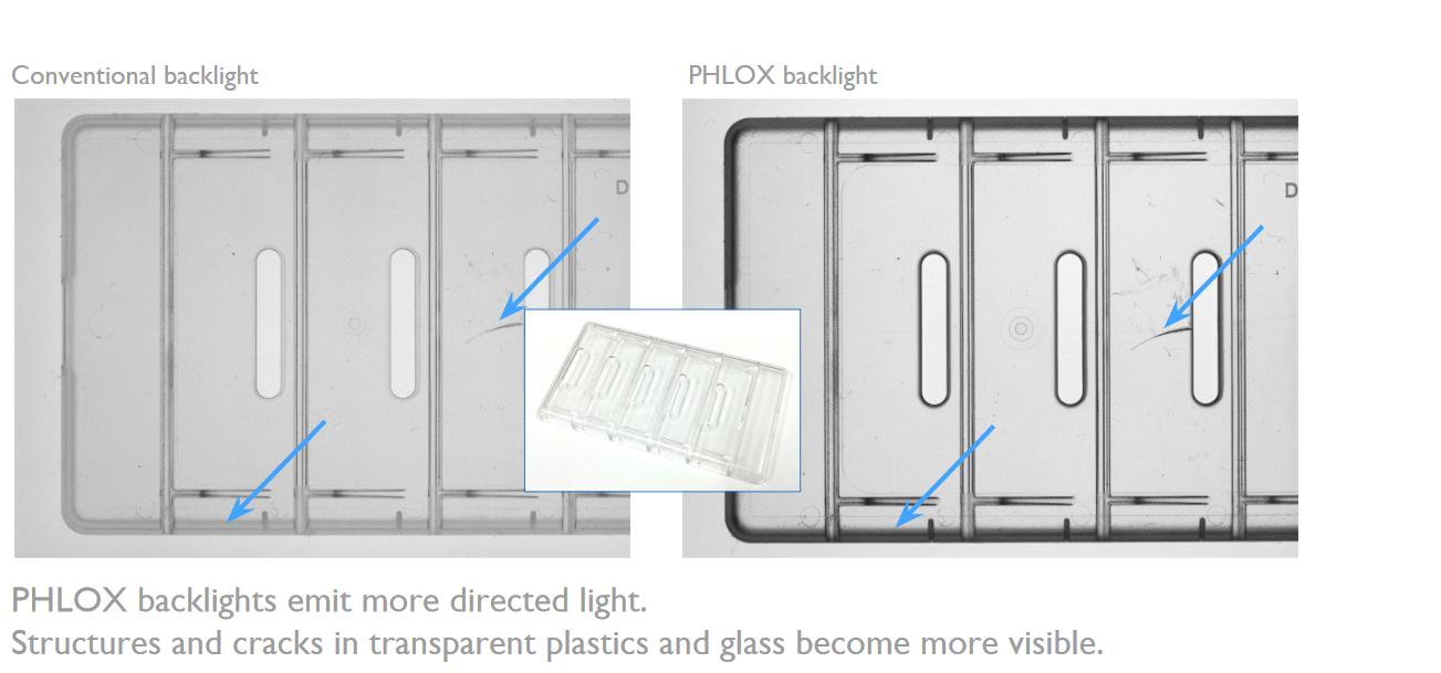 Phlox backlights emit more direct light